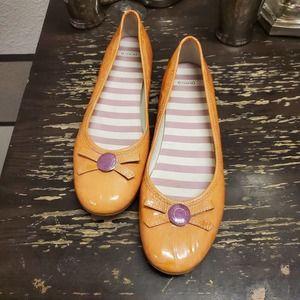 Coach-Collins Patent Leather Ballet Flat Sz 10